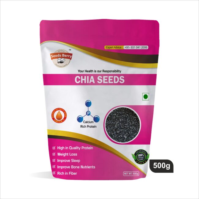 Raw Black Chia Seeds for Weight Loss