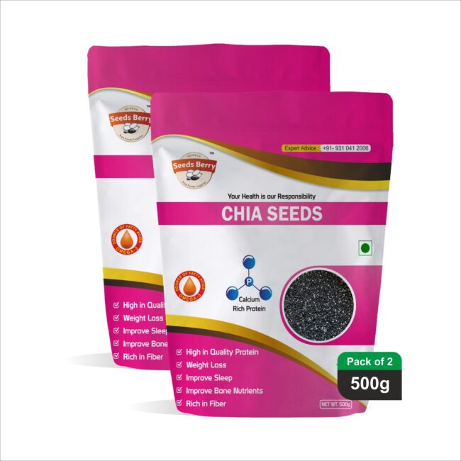 Raw Chia Seeds for Weight Loss & Skin