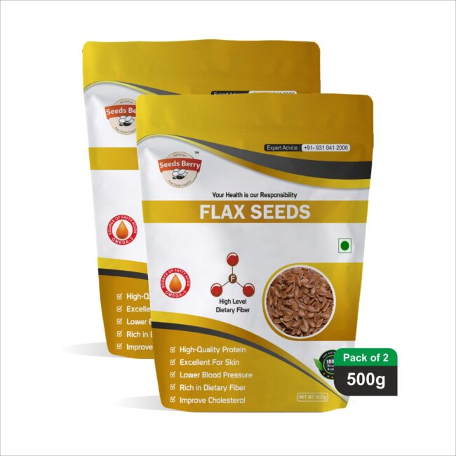 Raw Flax Seeds, Agase Beeja for Hair Growth & Skin
