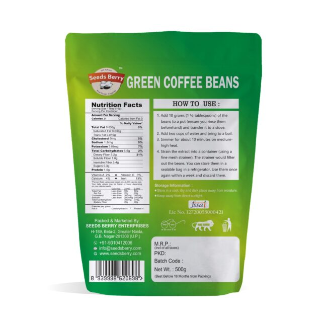 Raw Green Coffee Beans for Weight Loss & Hair