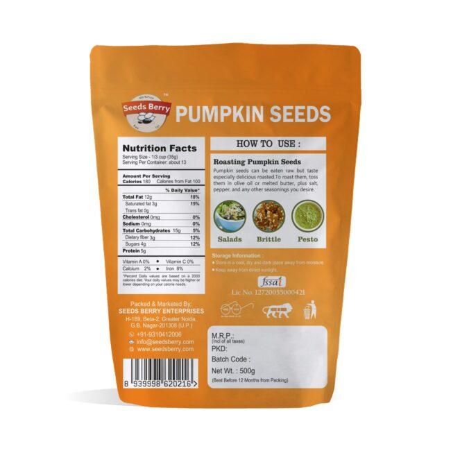Green Pumpkin Seeds for Hair & Skin