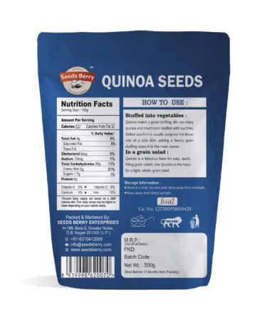 White Quinoa Seeds for Weight Loss