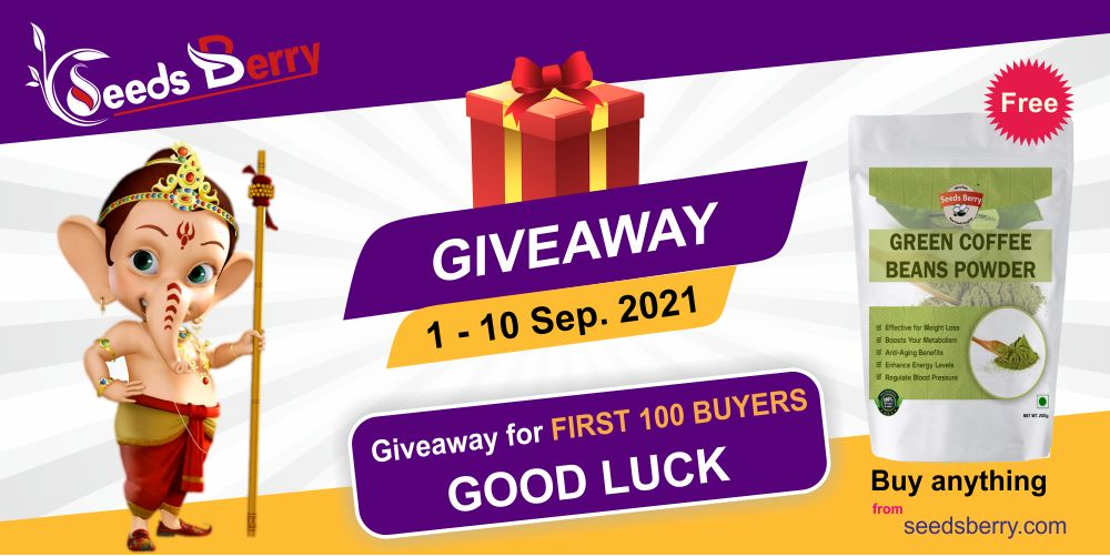 Giveaway by Seedsberry on Ganesh Chaturthi